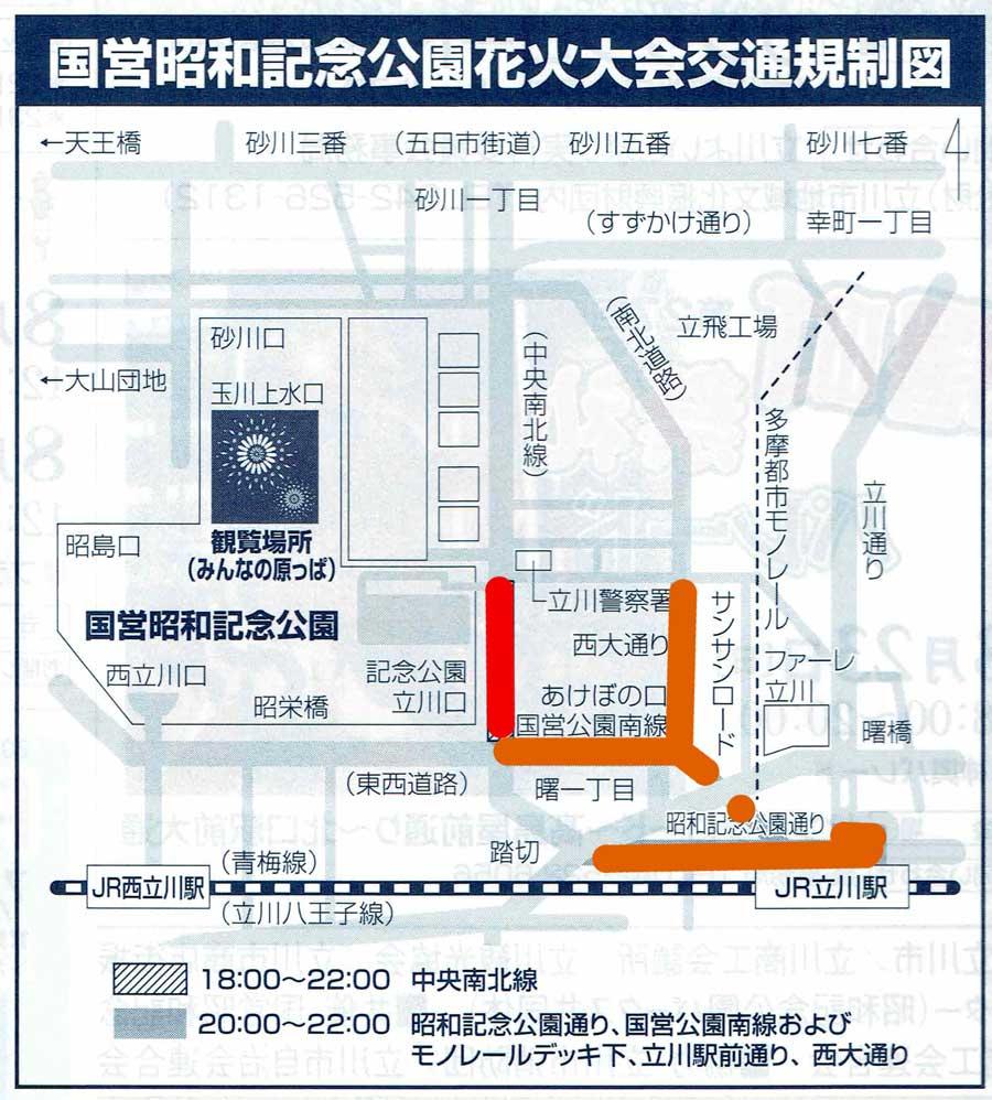 昭和記念公園花火1