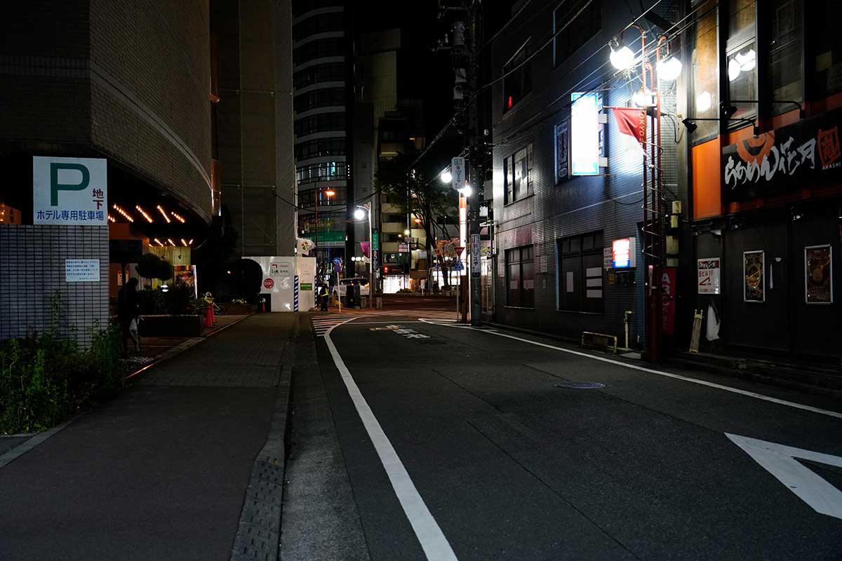 夜の立川駅北口